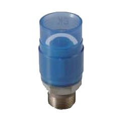 Pre-Seal Core, Transparent PC Core Fitting Insulation Type TPCZ Series Male Adapter Class TPCZM Socket (Fitting for Prevention of Contact Between Dissimilar Metals) for Device Connection