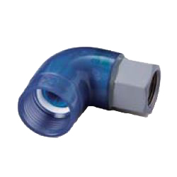 Pre-Seal Core, Transparent PC Core Fitting Insulation Type TPCZ Series Female Adapter Class TPCZF Elbow (Fitting for Prevention of Contact Between Dissimilar Metals) for Device Connection