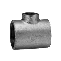 CK Fittings - Screw-in Type Malleable Cast Iron Pipe Fitting - Unequal Diameter (Small Diameter Branches) Tee