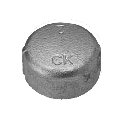 CK Fittings - Screw-in Type Malleable Cast Iron Pipe Fitting - Cap