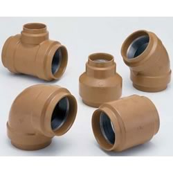 20 K Fittings with Outer Coating for Pressure Piping - Unequal Diameter Elbow