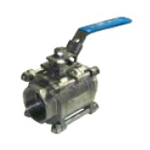 Stainless Steel Ball Valve, CST-PS 3-Piece Screw-in Ball Valve