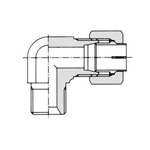 Flareless Fitting for Anti-Vibration Fitting NE Type Steel Pipe Type -Hose Connection Union Elbow (Female)