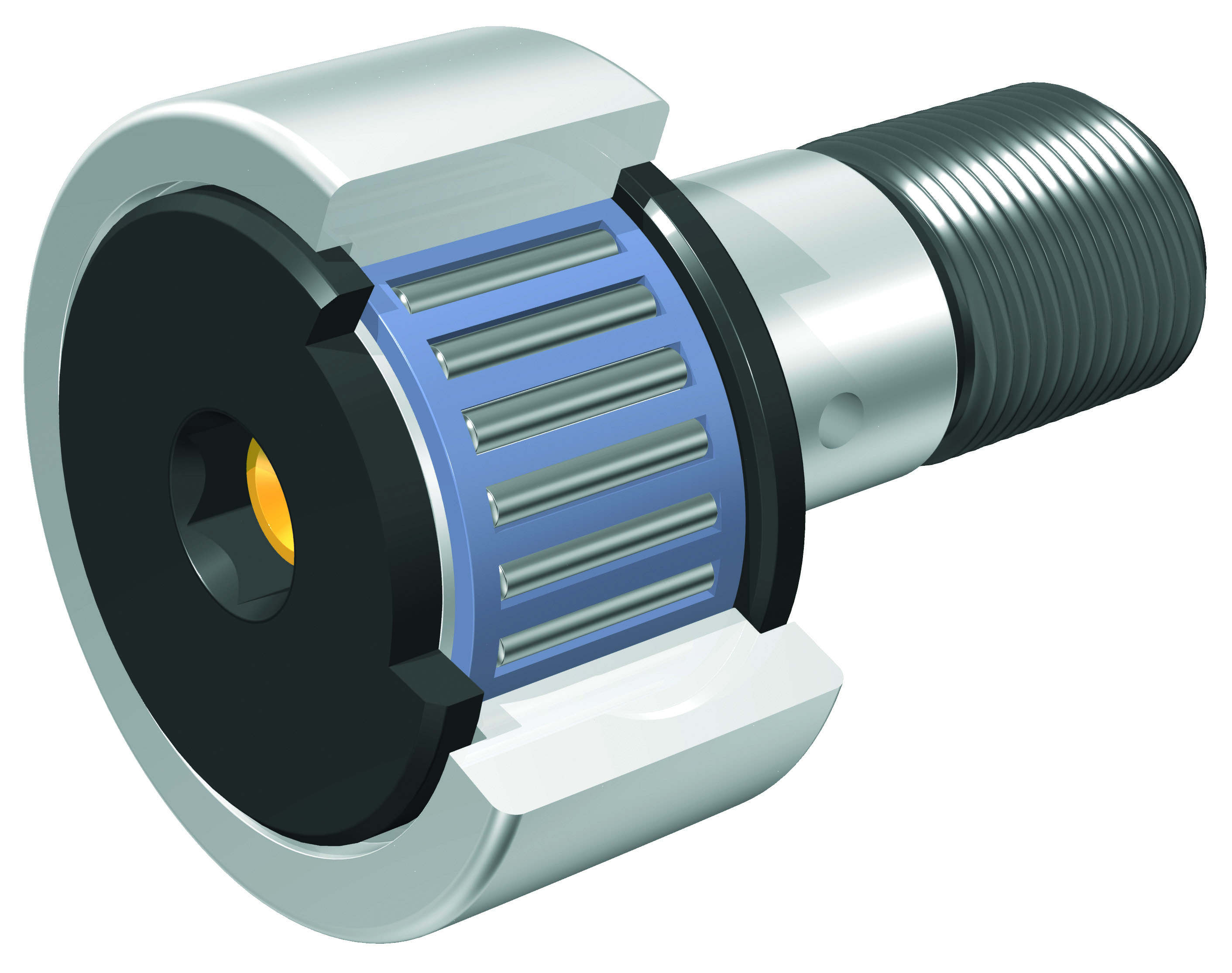 IKO - Solid Eccentric Stud Type Cam Followers With Cage/With Hexagon Hole - Shield Type
