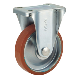 Medium-Load Caster, P-WK Type, Logllan (Urethane), Type with Wheels, Includes Fixture