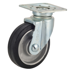 Tow Cart Caster, TRS-AWJ, Aluminum Cored Bar Type, with Swiveling Fittings, Silent