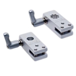Flexible Sensor Bracket, Mounting Base: Aluminum, Wedge Mounting Base C, with Clamp Lever (for Round Shafts / Square Shafts)
