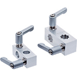 Flexible Sensor Bracket, XY Joint/Wedge XY Joint: Aluminum, with Clamp Lever (for Round Shafts / Square Shafts)