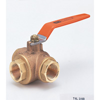 Brass General Purpose 400 Model Ball Valve (Three-Sided) Screw-in
