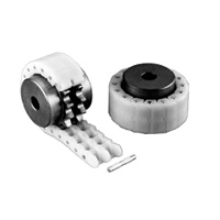 Engineering Plastic Chain Coupling Set (Sprocket: 2 Pcs., One Chain)