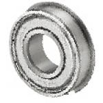 Deep Groove Ball Bearings - Double Shielded with Flange, Stainless Steel