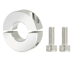 Shaft Collars - Slit, with Threaded Inserts (Aluminum)