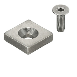 Magnets - With Countersink, Square