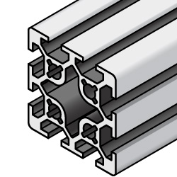 Aluminum Extrusion - 5 series, Base 20 , 40mm x 40mm