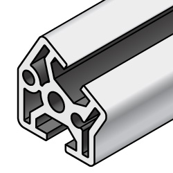 Aluminum Extrusions 8-45 Series, Angled 30, 45, 60 degrees