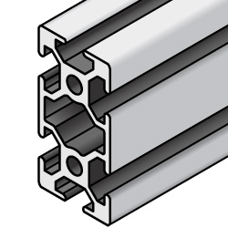 Aluminum Extrusions 8-45 Series (45x90, 50x100) with Milled Surface-