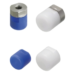 Pushers - MC Nylon/Polyacetal, Tapped, Flat/Round