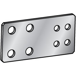 Sheet Metal Mounting Plates/Brackets - Configurable -