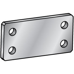 Flat Bars - Mounting Plates / Brackets - Holes symmetrically placed about a center point -