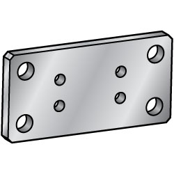 Flat Bars / Rolled Aluminum  Mounting Plates / Brackets - B Selectable / Configurable -
