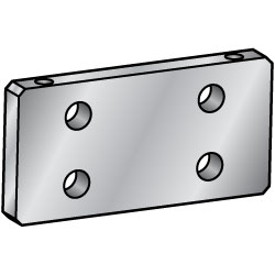 6-Surface Milled Mounting Plates / Brackets - Side Mounting Holes