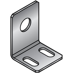 L-Shaped Angles - Mounting Plates / Brackets - Dimensions Configurable -