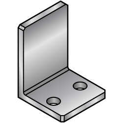 L-Shaped Angles - Mounting Plates / Brackets - Dimension Configurable -