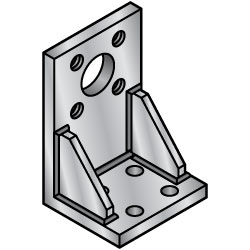 Weld-on Mounting Plates/Brackets - L-Shaped Type-