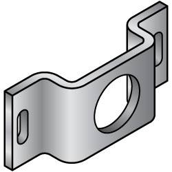 Sheet Metal Mounting Plates / Brackets (for Sensors / for Motors / for Cylinders) -Convex Bend Type-