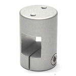 Square Pipe Joint, Square/Thread (2 Screws Parallel with Shaft)