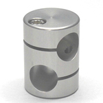 Round Pipe Joint, Same-Diameter Hole, with 45° Cross Hole (2 Point Top-and-Bottom Fastening)