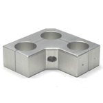 Round Pipe Joint, Same-Diameter Hole, Slim, for Fixing 3 Shafts