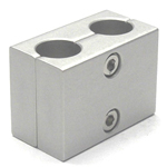 Round Pipe Joint, Same-Diameter Hole, 2-Split, 2 Parallel Shaft Holes