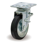 Steel Plate Swivel Casters with Stopper JB Fittings F/JB'