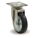 Stainless Steel Casters, Swivel, with JS Metal Fittings, F / JS