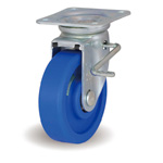 Steel Plate Caster, Free Swivel/Stopper, Includes JB Metal Fitting, MCB/JB