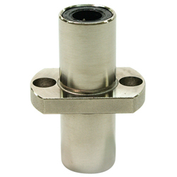 Flanged Linear Bushing, LFDTC Shape, Double, Center Position, T Shaped Flange