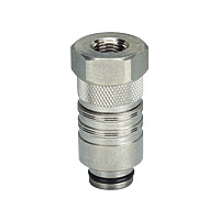 for Fixture Cooling Fixture Temperature Adjustment Fitting Female Thread Straight Plug with Stop Valve Built-in