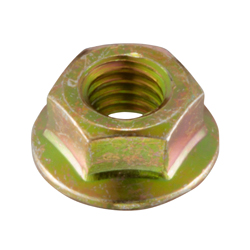 Flanged Nut with Serrations, Small Flange