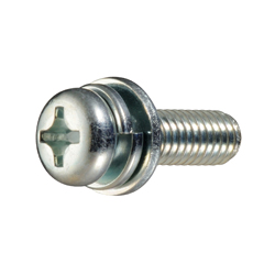 Phillips Pan Head Screws I=3 (SW+ISO Flat W) for Thin Plates