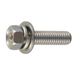 Phillips Head Small Hexagon Upset Screw P=3 (SW+JIS Flat W)