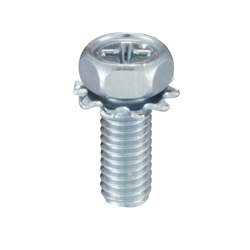 External Tooth Washer Integrated Phillips Head Hexagon Upset Screw (External Tooth W)