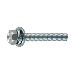 Spring/Flat Washer Integrated 7-Mark Small Hex Upset Screw (SW + JIS Flat W)