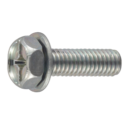 Phillips/Slotted Hex Upset Screw, P = 1 (JIS Flat W)