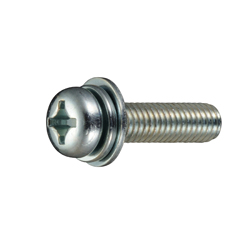 Phillips Pan Head Screw  P = 3 (SW+JIS Flat W)