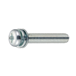 Phillips Pan Head Screw  P = 4 (SW+JIS Small, Flat W)
