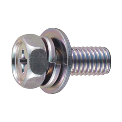 Phillips Head Upset Screw, P = 3 (SW+JIS Flat W)
