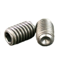 Hex Set Screw with Cupped End - Inch Size