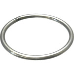Stainless Steel Welded Rings, Round Jump Ring