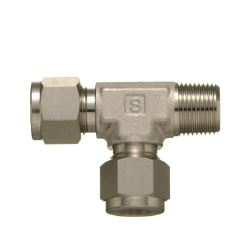 SUS316 Stainless-Steel Double Ferrule System Male Run Tee